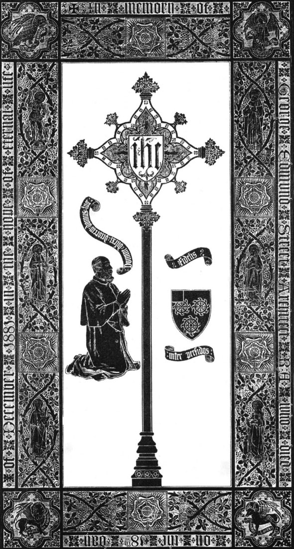 Memorial Brass, Westminster Abbey, Designed by G.F.Bodley