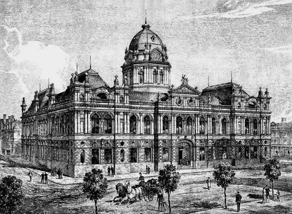 1884 – Brisbane Town Hall, Queensland, Australia