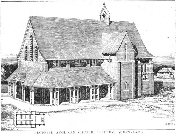 1910 &#8211; Proposed Anglican Church, Laidley, Queensland