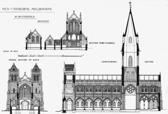 1880 &#8211; St. Paul&#8217;s Cathedral, Melbourne, Victoria, Australia