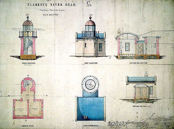 1880 – Clarence River Light, New South Wales, Australia