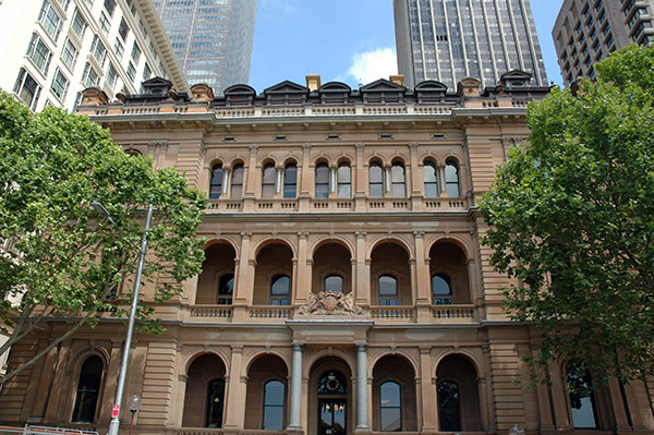 1880 –  Chief Secretary's Building, Macquarie St., Sydney, Australia