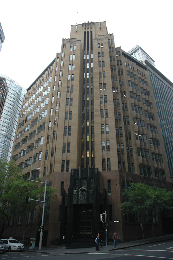 1936 – City Mutual Life Building, Hunter St., Sydney, Australia