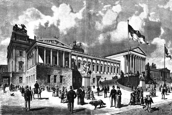 1884 &#8211; New Parliament, Vienna, Austria