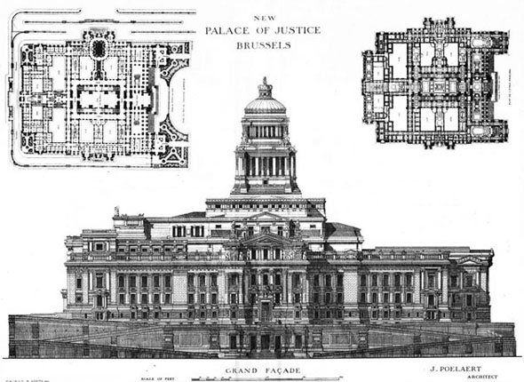 1883 – Design for Grand Palace of Justice, Brussels