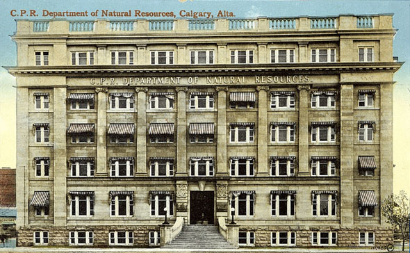 1911 – CPR Department of Natural Resources, Calgary, Alberta