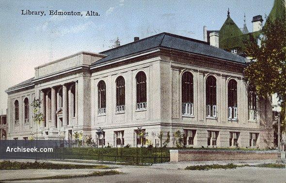 1923 – Public Library, Edmonton, Alberta