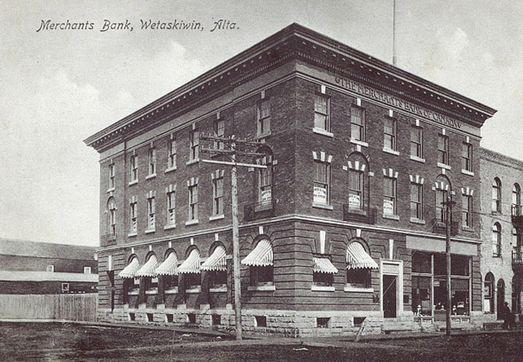 1905 &#8211; Merchants Bank of Canada, Wetaskiwin, Alberta