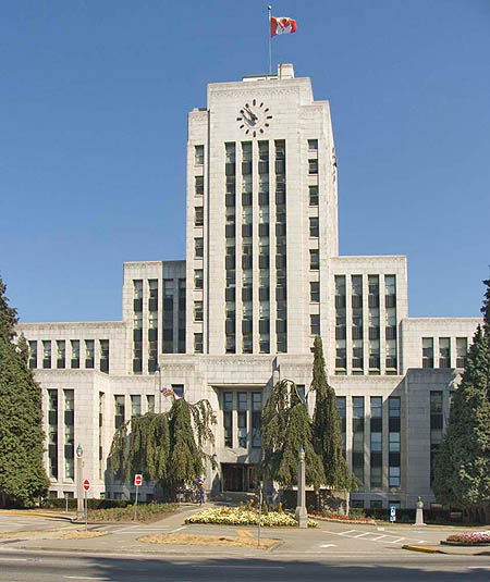 1936 – City Hall, Vancouver, British Columbia