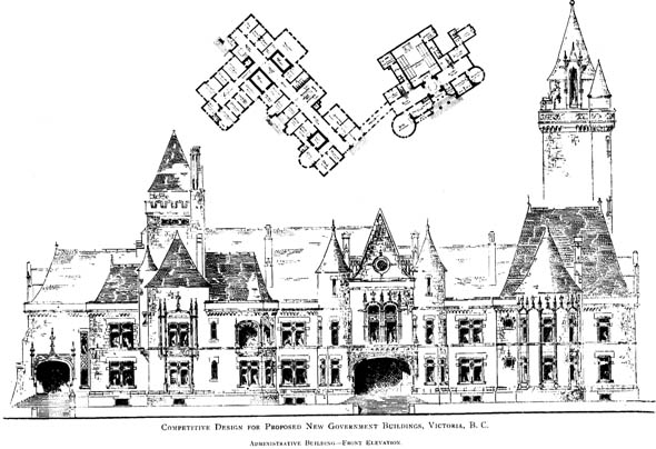 1893 – Competitive Designs for new Government Buildings, British Columbia