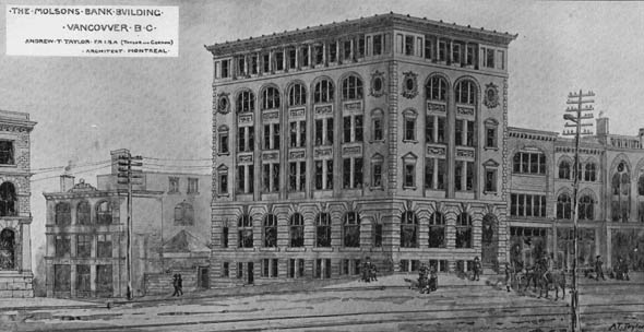 1899 &#8211; Molsons Bank Building, Vancouver, British Columbia
