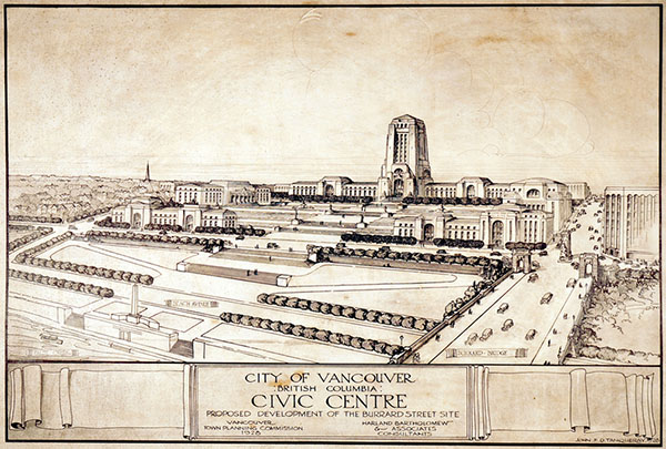 1928 – Design for Civic Centre, Vancouver