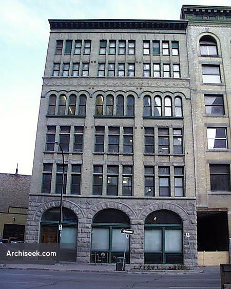 1899 – No. 189 Bannatyne (McClary Building), Winnipeg, Manitoba