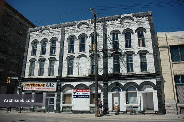 1883 – Bathgate Block, Winnipeg, Manitoba