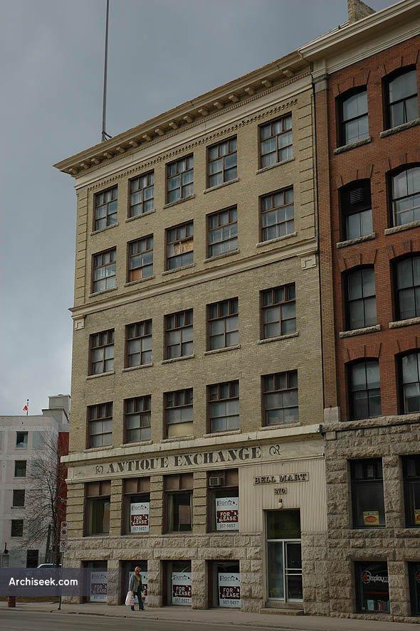 1905 – Bell Block 370 Donald Street, Winnipeg, Manitoba