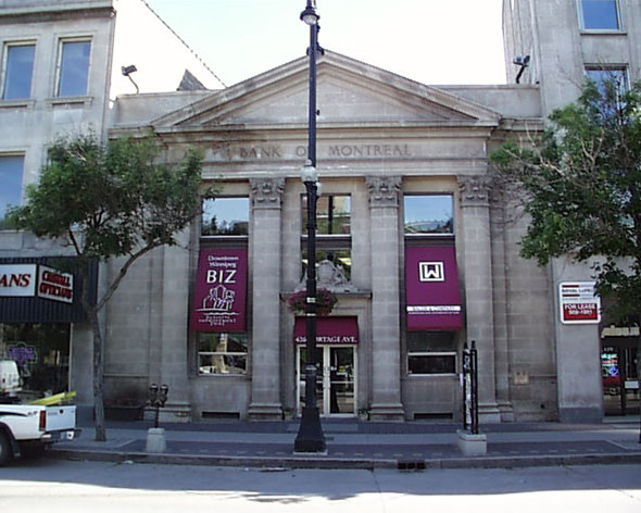 1927 – Former Bank of Montreal, Winnipeg, Manitoba