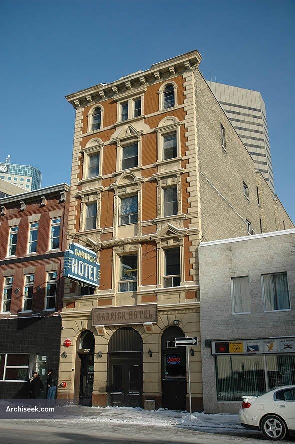 1906 – Garrick Hotel, Winnipeg, Manitoba