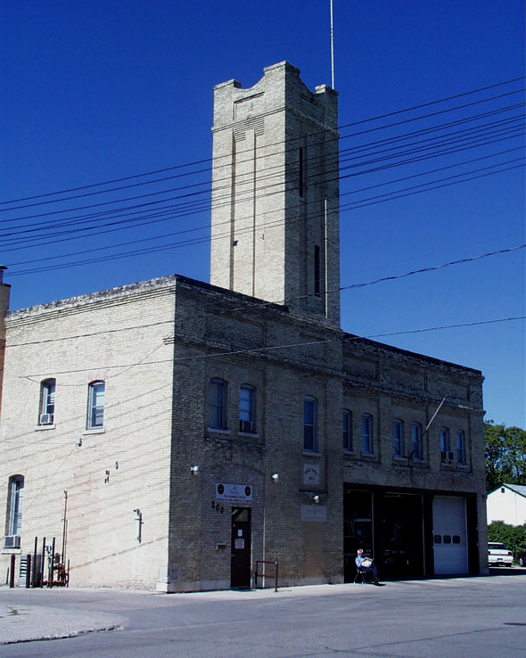 1912 &#8211; Firehall No.11, Berry Street, Winnipeg, Manitoba