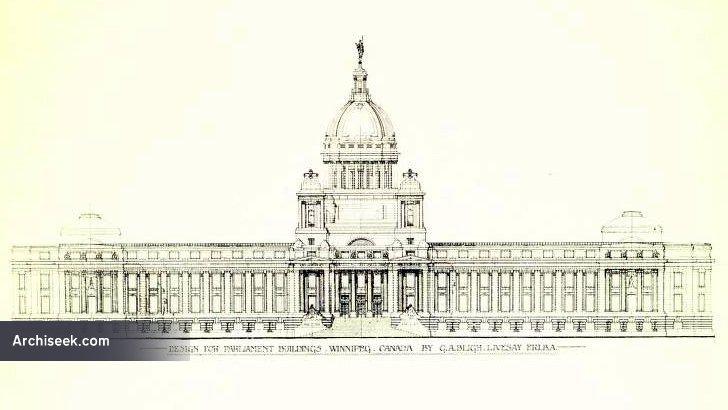 1913 – Design Proposal for Manitoba's Legislative Building, Winnipeg