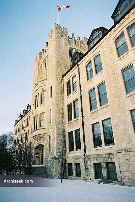 1932 – Tier Building, University of Manitoba, Winnipeg