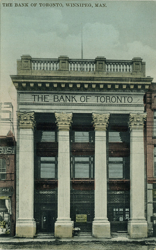 1907 &#8211; Former Bank of Toronto, Winnipeg, Manitoba