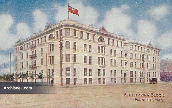 1902 – Strathcona Block, Winnipeg, Manitoba