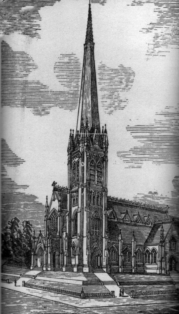 1883 &#8211; Design for Holy Trinity Church, Winnipeg