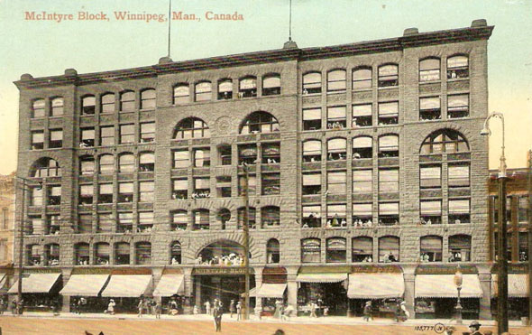 1898 &#8211; McIntyre block, Main St., Winnipeg