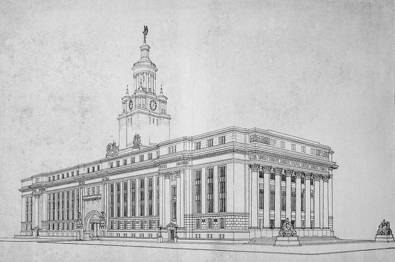 1913 – Competition Design for City Hall, Winnipeg