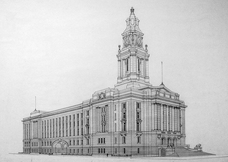 1913 – Third Placed Design for City Hall, Winnipeg