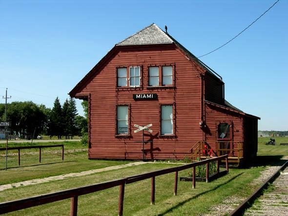 1889 – Former Railway Station, Miami, Manitoba