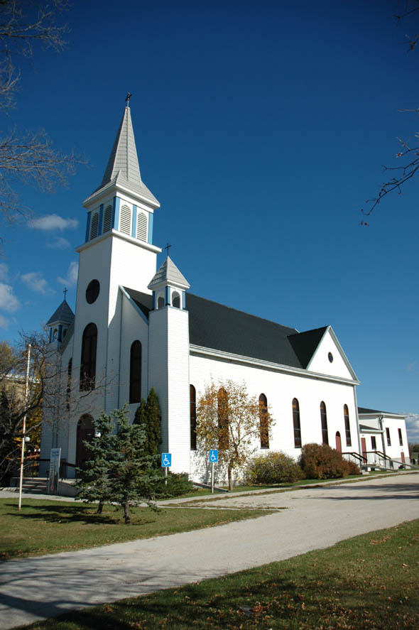 1896 &#8211; Church, St. Adolphe, Manitoba