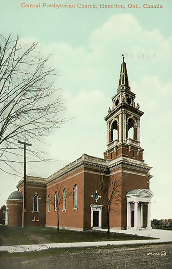 1908 – Central Presbyterian Church, Hamilton, Ontario