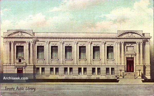 1909 – Former Public Library, Toronto, Ontario