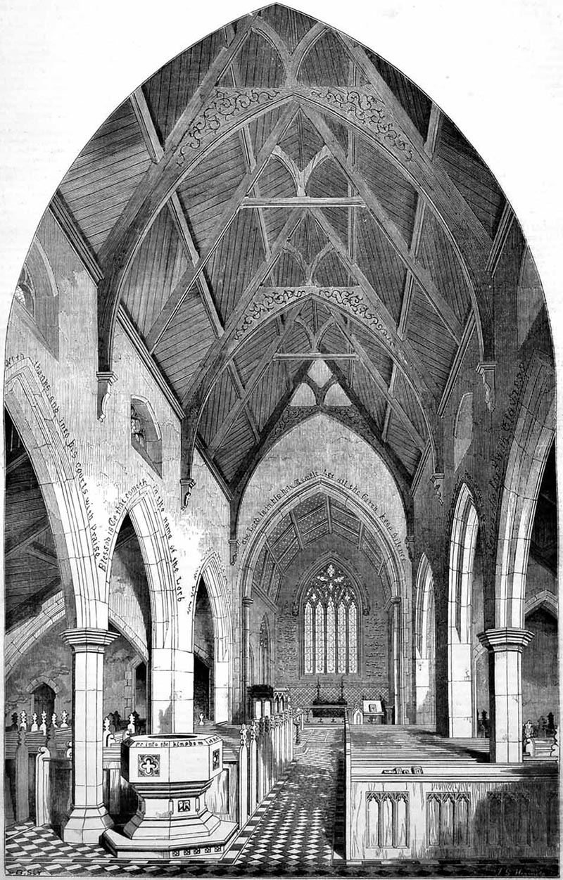 1858 – Design for St. Paul's Church, Yorkville, Toronto