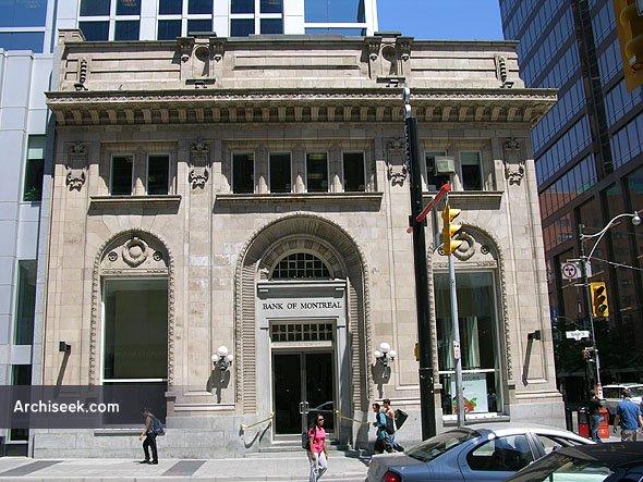 1910 – Former Bank of Montreal, Yonge St., Toronto, Ontario