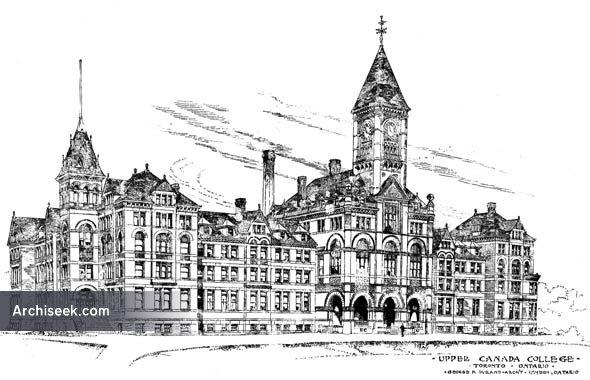 1889 – Upper Canada College, Toronto, Ontario