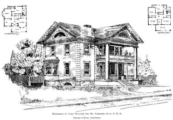 1898 – Residence, Fort William, Ontario
