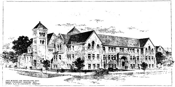 1902 – Art's building and Convocation Hall, Queens University, Kingston, Ontario