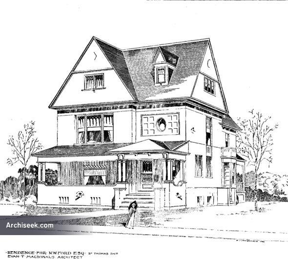1897 – Residence, St. Thomas, Ontario