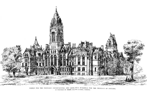 1898 – Ontario Legislative Buildings Proposal