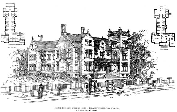 1891 – Aged Womans Home, Toronto, Ontario