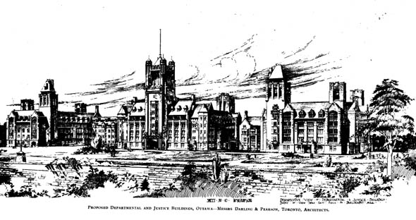 1907 – New Departmental & Justice Buildings, Ottawa, Ontario