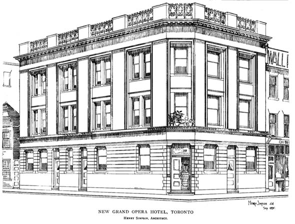1895 &#8211; Grand Opera Hotel, Toronto, Ontario