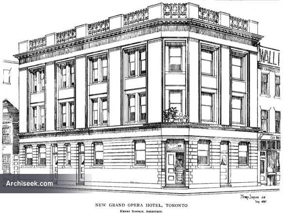 1895 – Grand Opera Hotel, Toronto, Ontario