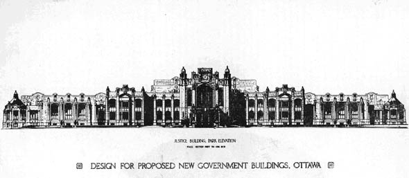 1907 &#8211; New Justice Buildings, Ottawa, Ontario