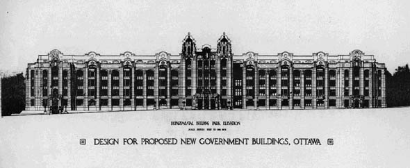 1907 &#8211; New Departmental Buildings, Ottawa, Ontario