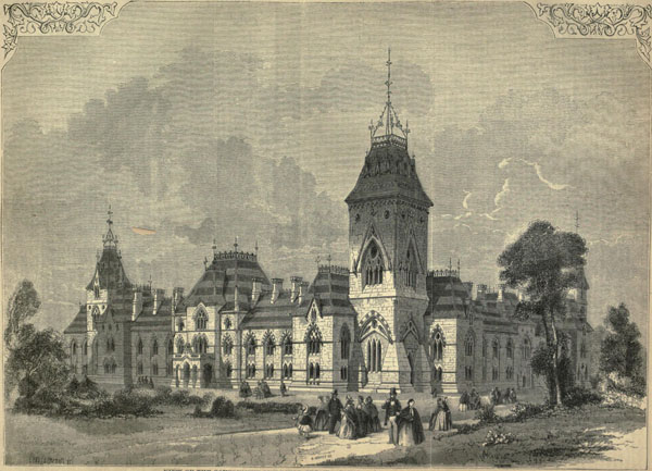 1860 – Design for Government Buildings, Ottawa, Canada