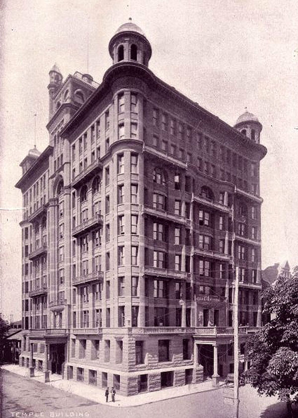1896 – Temple Building, Bay & Richmond Sts., Toronto