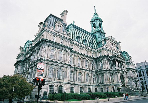 1878 &#8211; Hotel de Ville, Montreal, Quebec